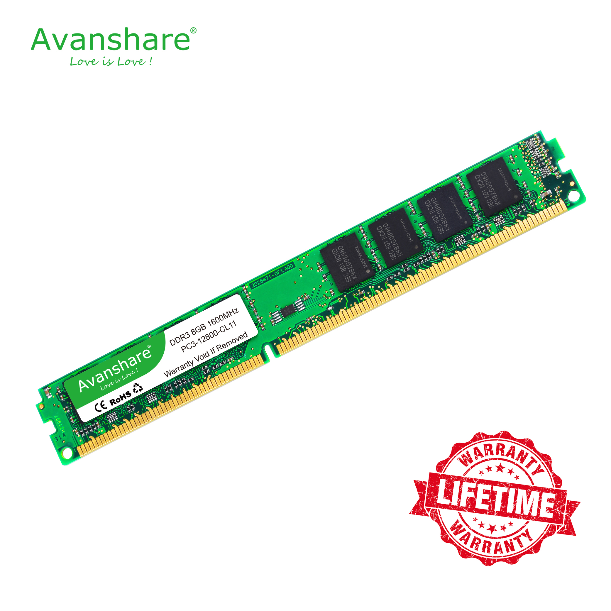 memory <font><b>ddr3</b></font> 8gb for desktop pc 1600MHz ram <font><b>ddr3</b></font> 1600 compatible <font><b>ddr3</b></font> desktop 4gb 1333MHz sdram <font><b>1066mhz</b></font> by Avanshare image