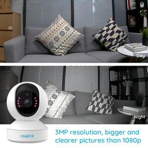 Image 3 - Reolink câmera de segurança em casa 3mp 2.4g hz wifi pan/tilt 2 way áudio slot para cartão sd câmera ip interior e1 dois pacote