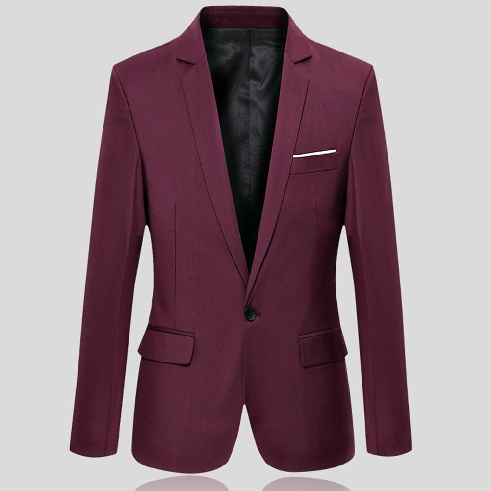 Men Business Blazers Spring Autumn Formal Men's Coat Male Fashion Solid Color Blazer Long Sleeve Lapel Sliming And Fits Clothing