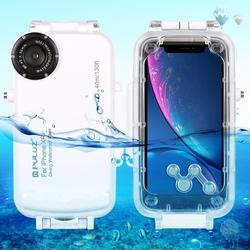 PULUZ 40m/130ft Waterproof Diving Housing Photo Video Taking Underwater Cover Case for iPhone  XR