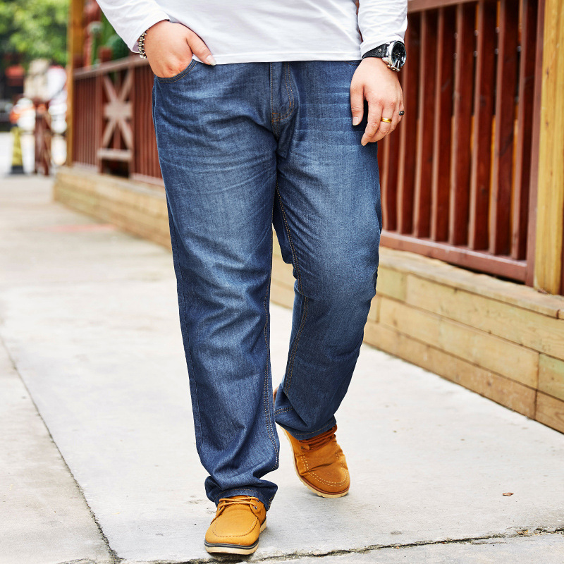 New Style-Men'S Wear Large Size Loose Straight Jeans Men's Plus-sized Pants Plus-sized Jeans Trousers 3835