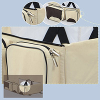 3 In 1 Multifunctional Nursing Single Shoulder Travel Net Pouch Large Capacity Folding Baby Cribs Diaper Bags Stroller Portable