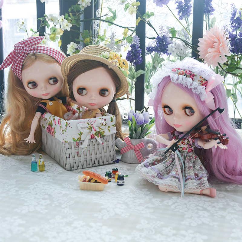 Blyth BJD poupée, Blyth poupée nue personnalisé givré visage poupées peut changé de maquillage et robe bricolage, 12 pouces boule articulée poupées 01
