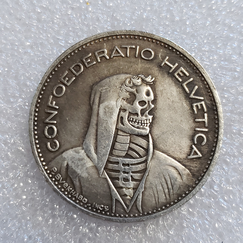Nickel Coin 1965-B Switzerland 5 Francs Old Coins Copy Type For Collection Free Shipping