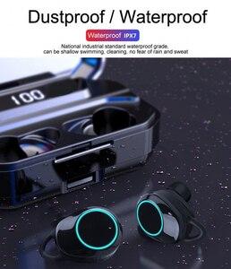 Image 5 - G02 TWS 5.0 Bluetooth 9D סטריאו אוזניות אלחוטי אוזניות IPX7 עמיד למים אוזניות 4000mAh LED תצוגה חכם כוח בנק