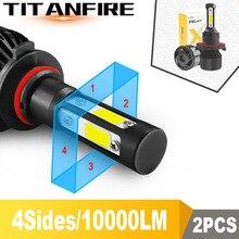 TF30 4 стороны люмен COB 100 Вт 10000lm H4 Hi короче спереди и длиннее сзади) H7 H11 9005 9006 Автомобильный светодиодный головной светильник лампы авто светодиодный налобный фонарь светодиодный C6 светильник 12v 24v