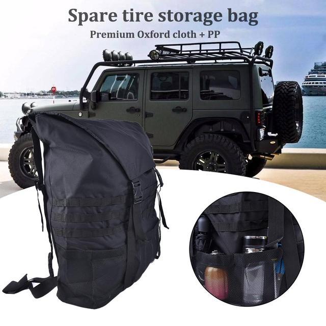 Sac poubelle de rechange pour véhicules hors route | Adapté à Jeep Wrangler sac poubelle pour pneus de rechange sac de stockage de pneus de rechange