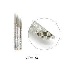 купить Tebori Microblading Needles Manual Pen Blades 14 Pins Microblading Permanent Makeup Eyebrow Tattoo 3D Embroidery по цене 315.24 рублей