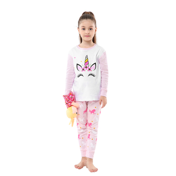 100 Cotton Boys and Girls Long Sleeve Pajamas Sets Children's Sleepwear Kids Christmas Pijamas Infantil Homewear Nightwear - PA21, 3T