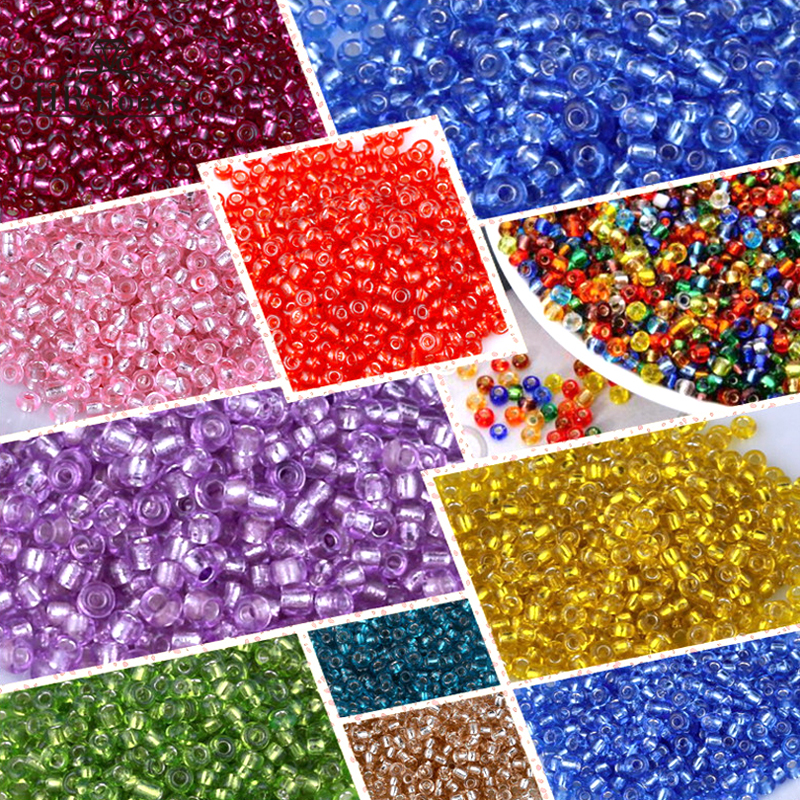 10g sew on Bridal Wedding Round beads Sewing Any purpose diy 2mm various colours