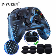 Силиконовый чехол IVYUEEN 9 в 1 для Xbox One X S контроллер + 8 аналоговых зажимов для джойстика X Box One X Slim
