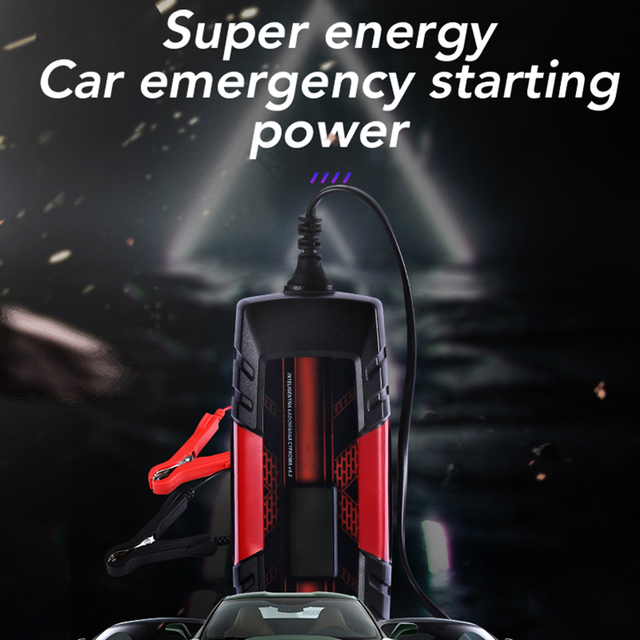 12 V 4.5A 3-Stage Automatic Car Battery Charger Intelligent Battery Charge Device with LCD Display for AGM GEL SLA WET Batteries
