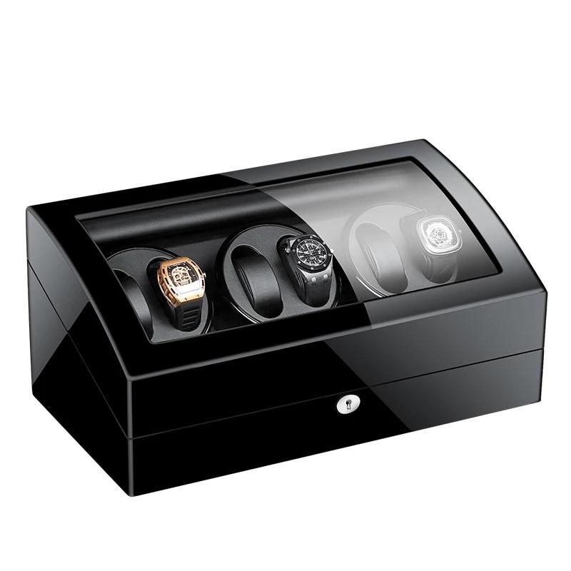 GorbenEU/US/AU/UK Plug  Jewelry Holder Display Organizer PU Leather Automatic Watch Winder Holder Storage For Mechanical Watch