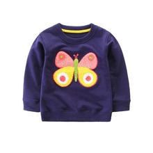 Toddler Baby Girl Outerwear Cartoon Floral Casual Sweatshirt Blouse Kids Clothes Warm Tops #p blouse 1207041 13