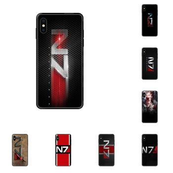 For Galaxy S5 S6 S7 S8 S9 S10 S10e S20 edge Lite Plus Ultra TPU Capa Coque Greatest Mass Effect N7 Armour image