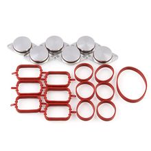 6X 33MM for BMW Diesel Swirl Blanks Flaps Repair Delete Kit With Intake Gaskets Car Accessories