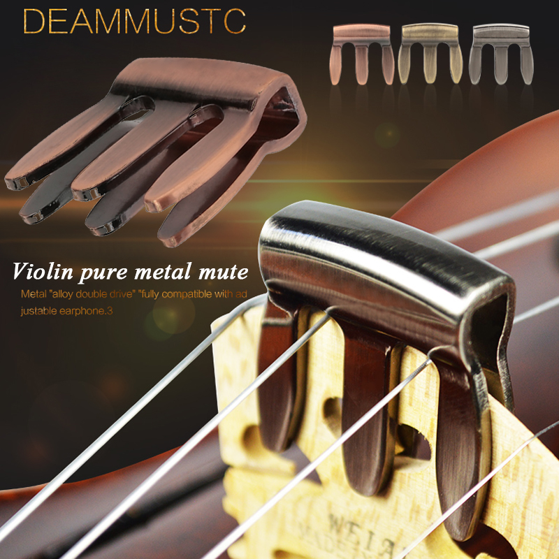 Violin Mute Silencer Zinc Alloy 3 Color Gifts String Instrument Metal Mute Simple Sound Hole Musical Instruments