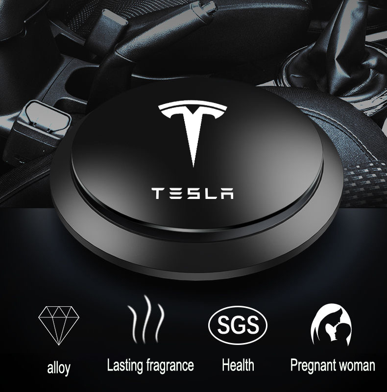 Ambientador de ar do carro instrumento assento aromaterapia carro-estilo do carro sabor perfume ufo forma perfume decoração para tesla modelo 3 x y s