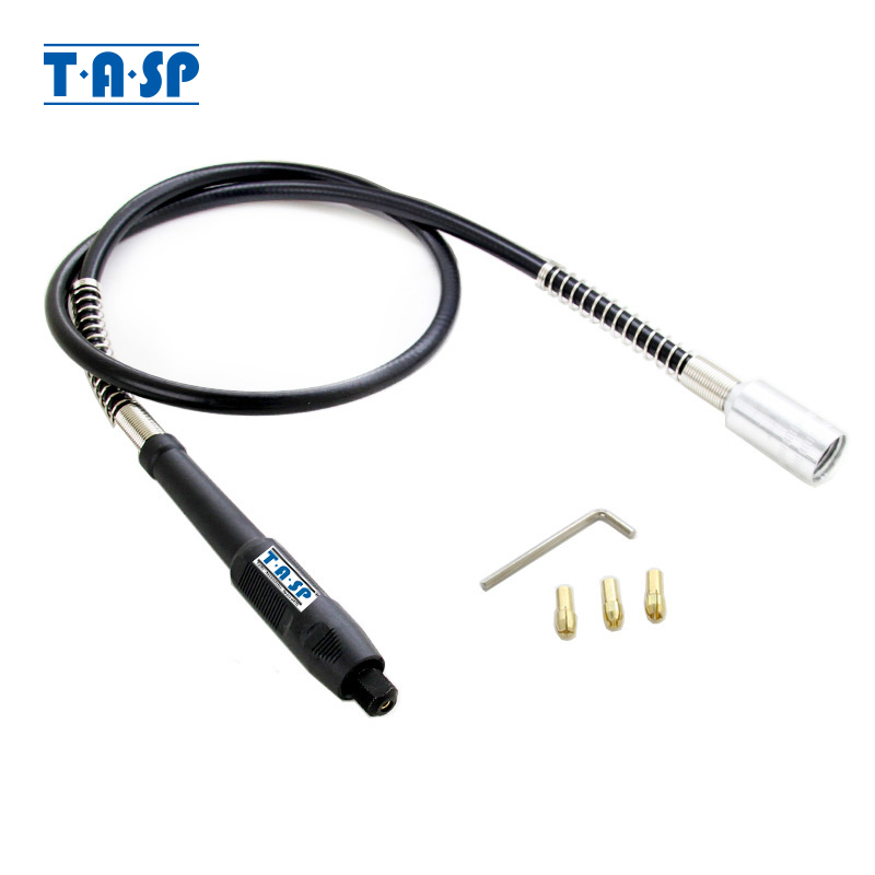 TASP 107cm Rotary Tool Flexible Shaft Mini Drill Accessories With 3.2/2.3/1.5mm Collets