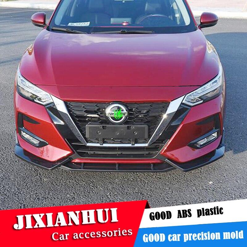 Para Nissan Sentra Body kit spoiler 2020-2021 Para SYLPHY ABS Amortecedor dianteiro Difusor Traseiro lip spoiler traseiro Amortecedores protetor