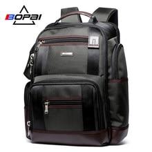 Büyük kapasiteli erkek seyahat sırt çantası çok cepler naylon erkek Mochila siyah sırt çantası okul için İşlevli dizüstü sırt çantası