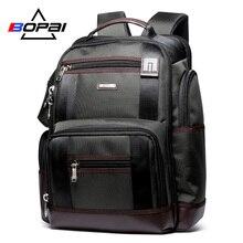 Grande capacité hommes voyage sac à dos Multi poches Nylon mâle Mochila noir sac à dos pour école multifonction sac à dos pour ordinateur portable sac