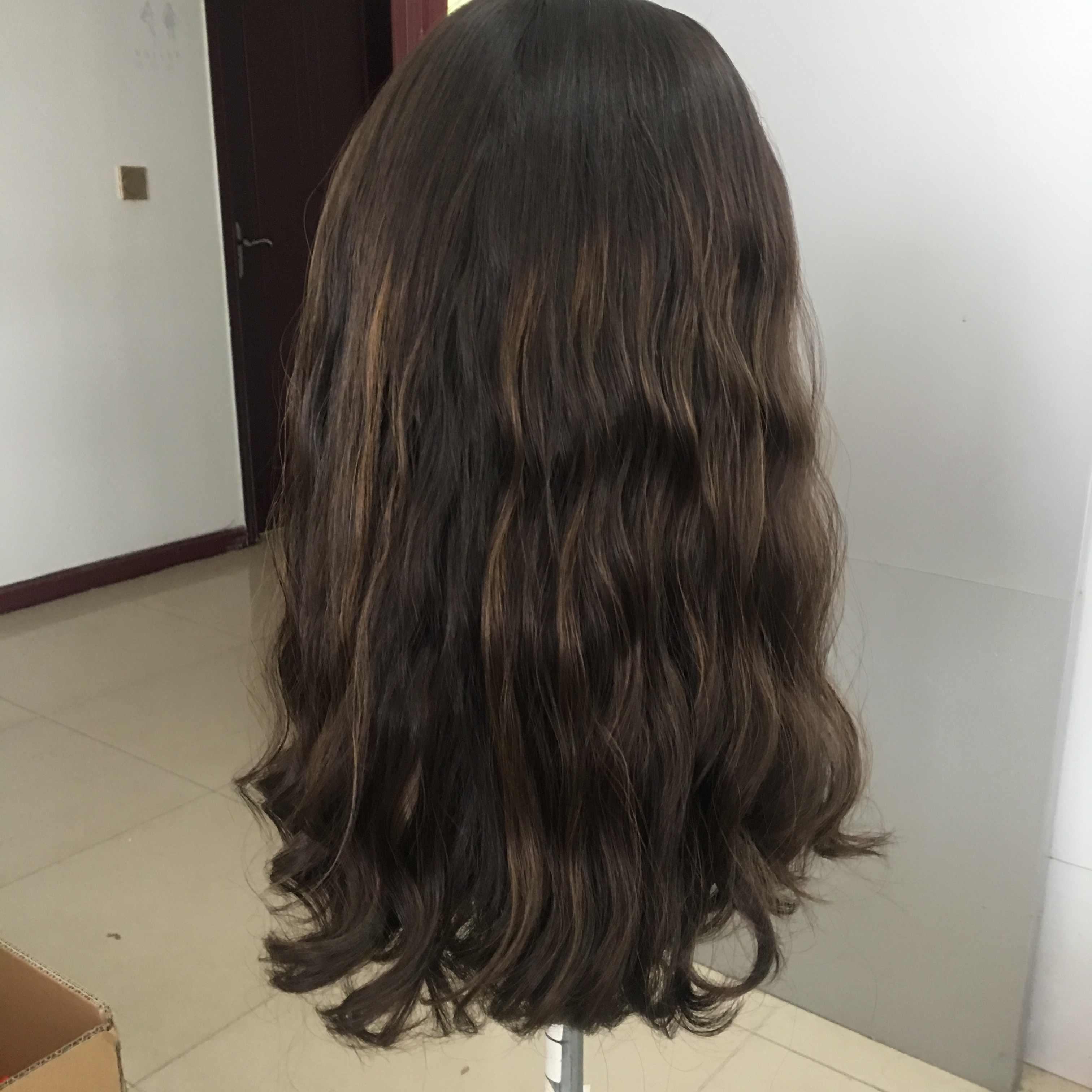 Alishevy custom made silk top naturalne włosy europejskiej peruki lekka fala peruka żydowska koszerna peruka najlepsze Sheitels w magazynie