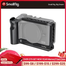 Petite Cage de tir Vlog pour Canon EOS M6 Mark II Cage de caméra avec support de chaussure froide/poignée intégrée/filetage ARRI 2515