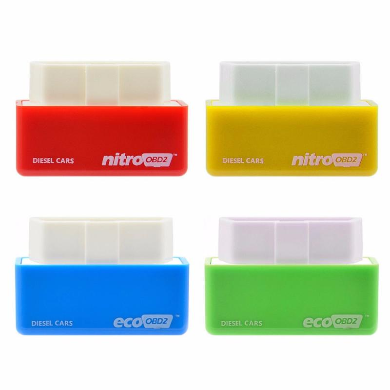 Colorful  ECO OBD2 Chip Tuning Box ECO OBD2 Nitro OBD2 Original Plug Gasoline Diesel More Power Torque Save Fuel Car Accessories