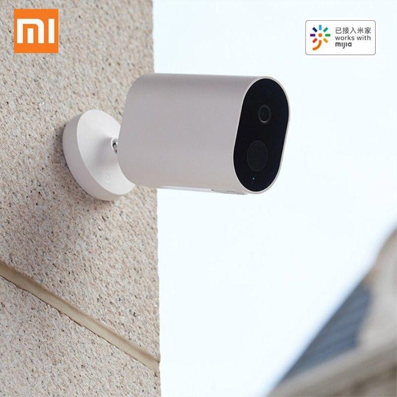 Xiaomi mijia inteligente câmera ip com bateria gateway 1080 p ai detecção humanóide app controle ip65 ao ar livre sem fio inteligente câmera