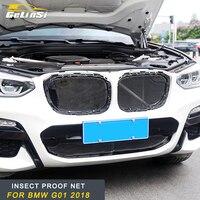 Gelinsi für 2018 2019 BMW X3 G01 X4 G02 Auto Insekt Staub Proof Anti Insekt Screening Mesh Motor Haube Vorne grill Einfügen Net-in Rennauto-Kühlergrill aus Kraftfahrzeuge und Motorräder bei