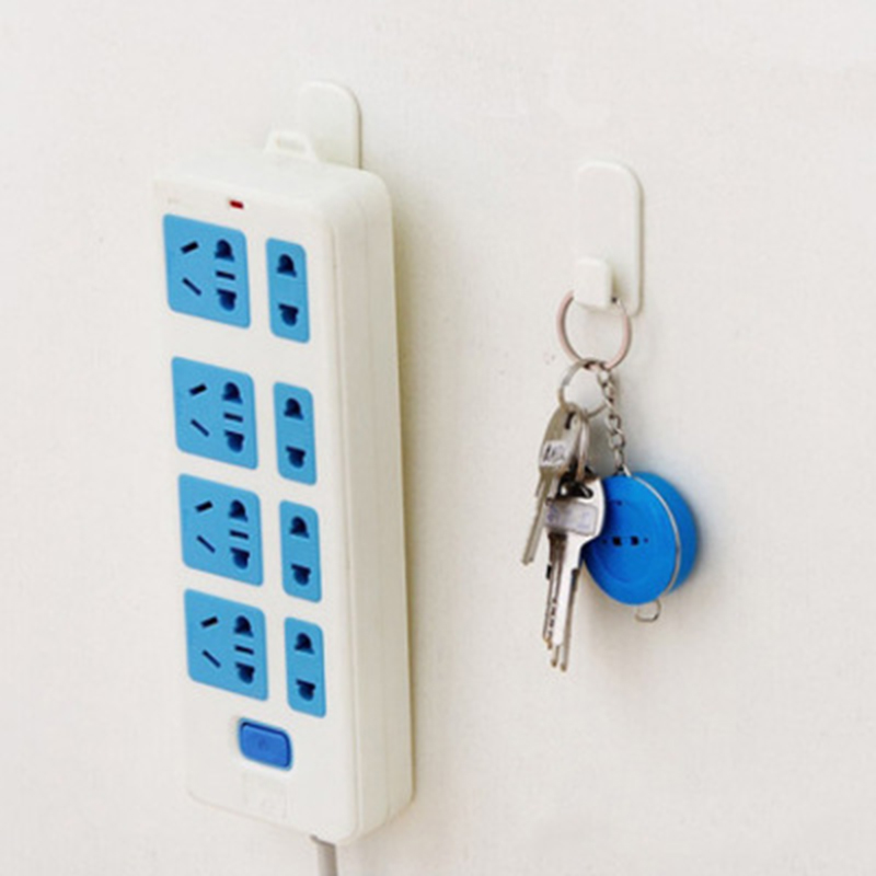 2pcs Adhesive Hooks Sticky Display Saving Spacer Placing TV Remote Control Keys Sensor Controller Hangers image
