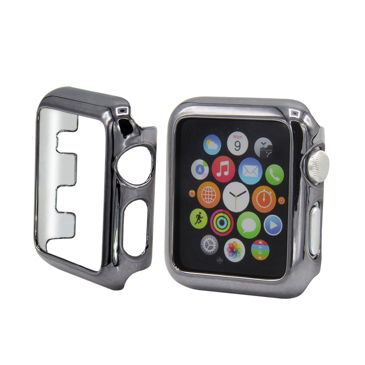 Suitable For Apple I Watch 1/2/3 Watch PC Electroplated Bordered Design Protective Case