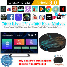Android TV Box 9.0 2/4GB RAM 16/32/64GB ROM HK1 Max Dukungan USB 3.0 2.4G-5G Dual-Band Wi-fi 3D 4K Penuh HD H.265 100M Ethernet(China)