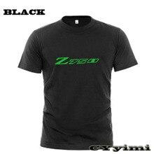 Tees T-Shirt KAWASAKI Short-Sleeve Men 100%Cotton for Z750 750S New LOGO Summer Round-Neck