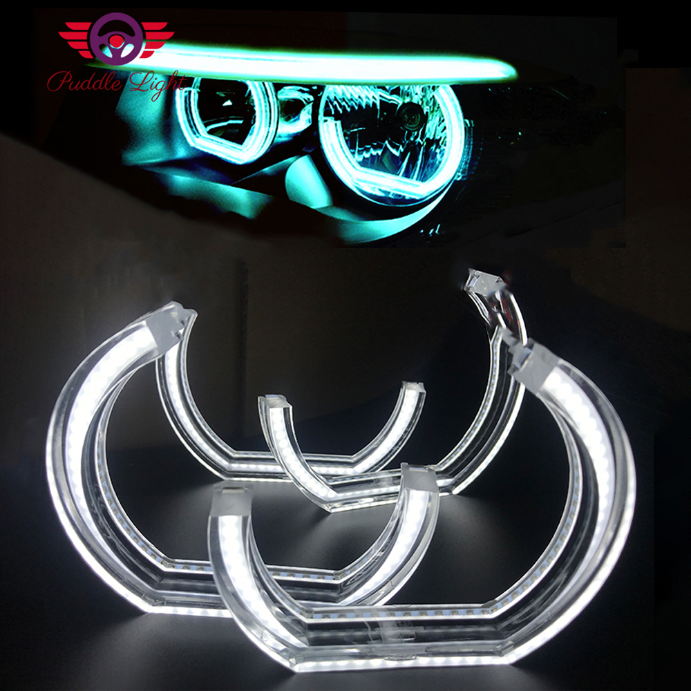 <font><b>LED</b></font> Angel Eyes 3D DTM Halo For M3 M4 M5 <font><b>BMW</b></font> F10 F13 F22 <font><b>F30</b></font> F31 F34 F35 E60 E81 E82 E87 E88 E90 E91 E92 E93 Xenon <font><b>Headlight</b></font> DIY image
