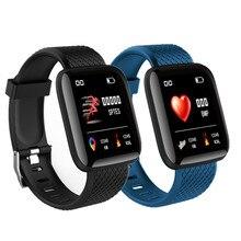 Connect tfit 116 زائد ساعة ذكية اللياقة البدنية ضغط الدم معدل ضربات القلب أندرويد عداد الخطى D13 مقاوم للماء الرياضة ساعة ذكية الفرقة