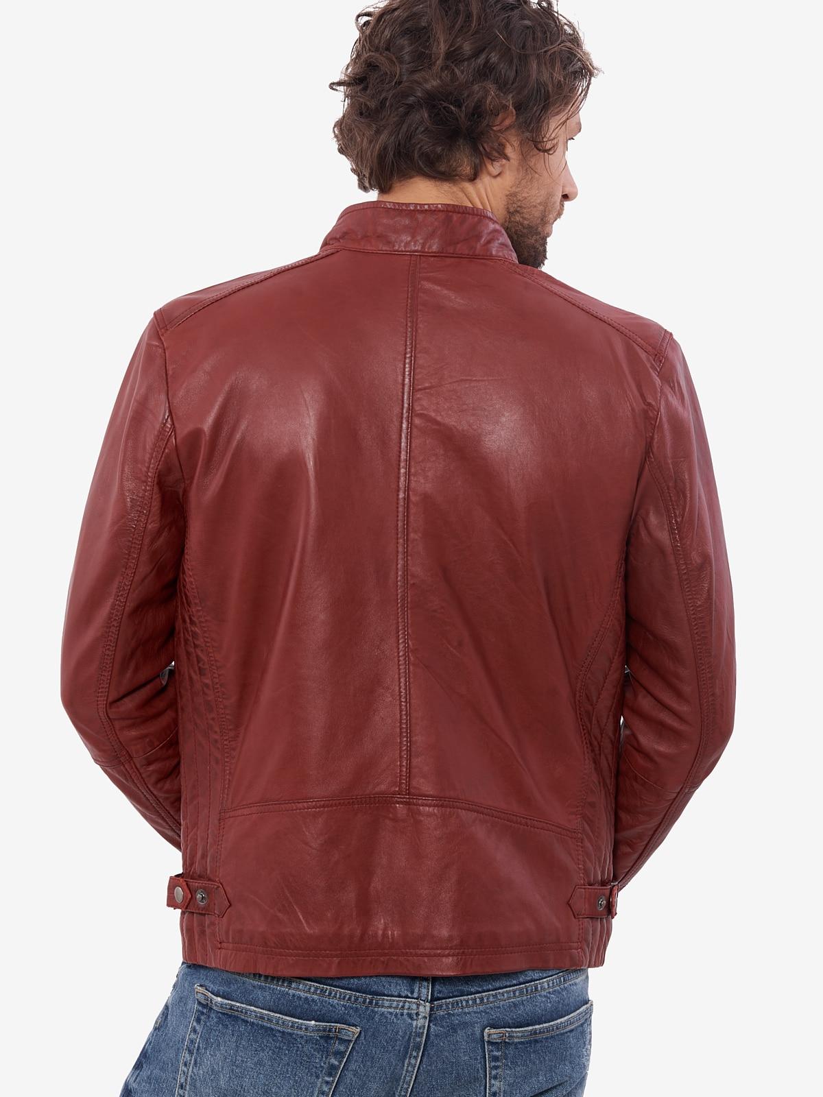 H22468d001b0044478514256ebd1c2710G VAINAS European Brand Mens Genuine Leather jacket for men Winter Real sheep leather jacket Motorcycle jackets Biker jackets Alfa
