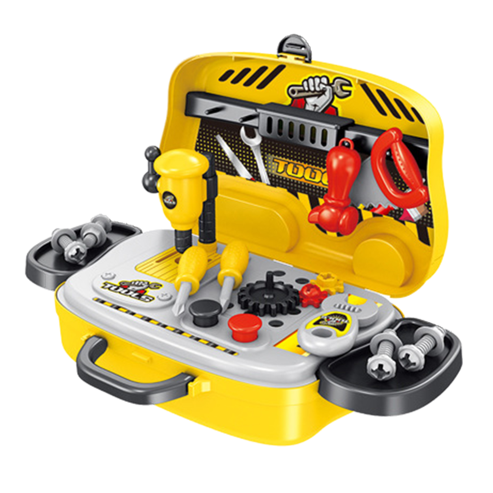 Boys Repair Tools Kit Pretend Play Toy Safe Fun Educational Toy For Boys Tools For Construction Portable Design Easy To Carry