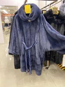 Jackets Mink-Coat Real-Fur-Coat Natural Fur Women Long Winter Warm And Wishers Rose Female