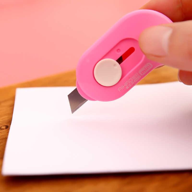 Sevimli Kawaii DIY kore Aihao kağıt Mini kesici mektup maket bıçağı okul ofis ev malzemeleri kırtasiye