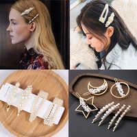 Fashion Pearl Hair Clip for Women Elegant Korean Design Snap Barrette Stick Hairpin Hair Styling Accessories