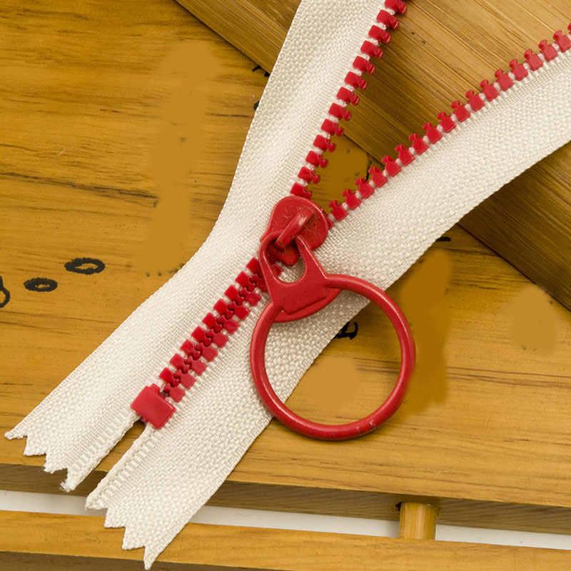 1 Buah 15-35 Cm 3 # Closed End Resin Ritsleting Tarik Cincin Zip Slider Kepala untuk Menjahit Tas dompet Dompet Kain Aksesoris Kerajinan