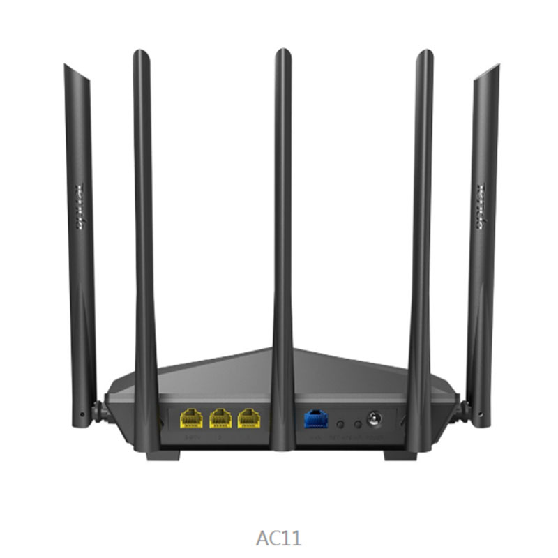 Tenda AC11/AC6/AC7/AC10 Wireless Wifi Router Gigabit Dual-Band AC1200 Repeater with 5*6dBi High Gain Antennas Wider Coverage 2