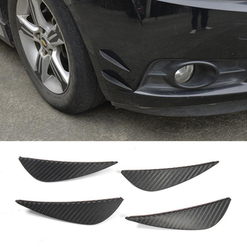 Universal Fins For Front Bumper Lip Splitter Blades for BMW E46 F10 F30 For VW Golf 4 5 6 7 Body Spoiler Canards Valence Chin image