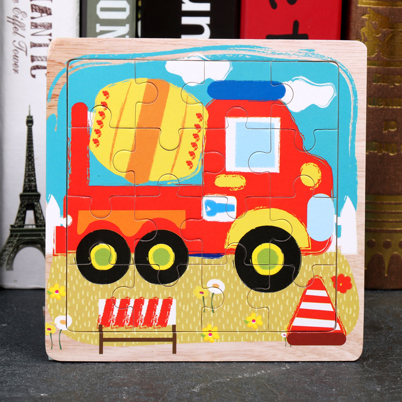 Wood Puzzles Children Adults Vehicle Puzzles Wooden Toys Learning Education Environmental Assemble Toy Educational Games 14