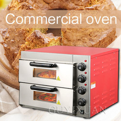 Household intelligent Double layer electric pizza oven Commercial High capacity Multifunction Baking bread cake Electric oven
