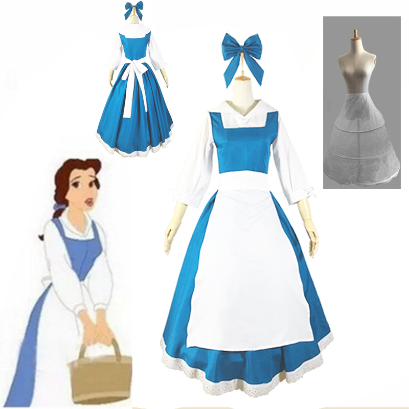 New Beauty Beast Princess Belle Fancy Dress Made Coplay Costume For Christmas