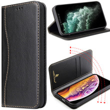 Genuine Real nature cow Leather Flip Case For iPhone 12 Pro Max mini Book Business Wallet Magnetic For iPhone 12 mini