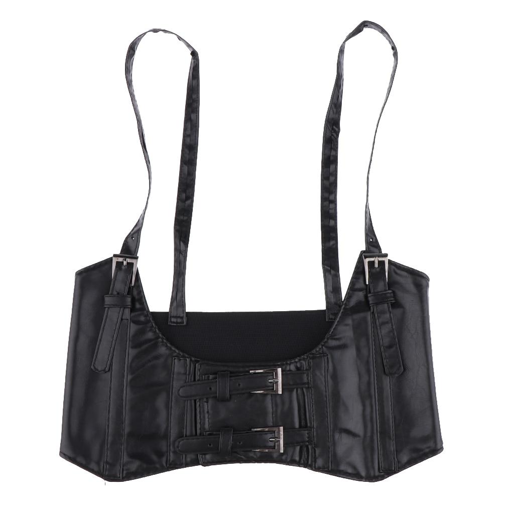 Fashion Leather Steampunk Sexy Underbust Waist Belt Corset For Women Girls